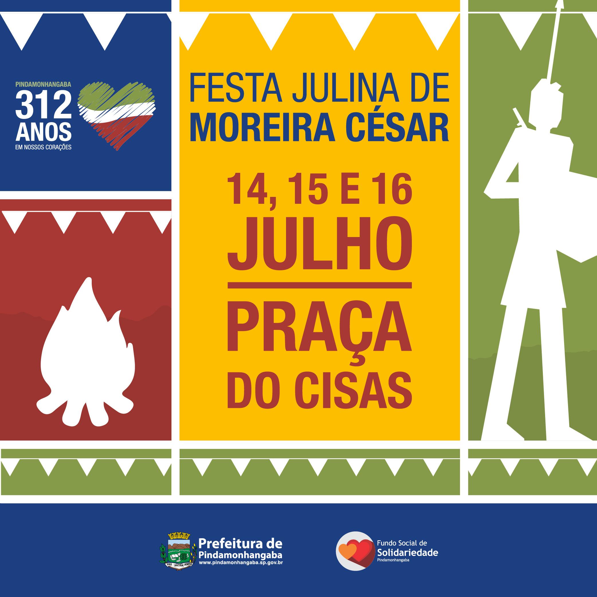 Festa Julhina de Moreira César começa nesta sexta-feira