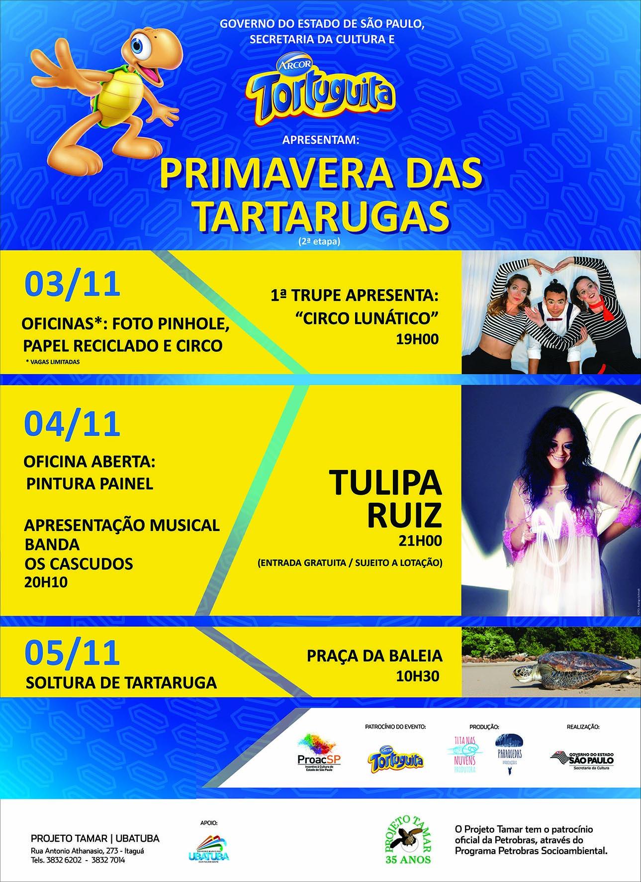 2ª etapa Primavera das Tartarugas acontece em Ubatuba