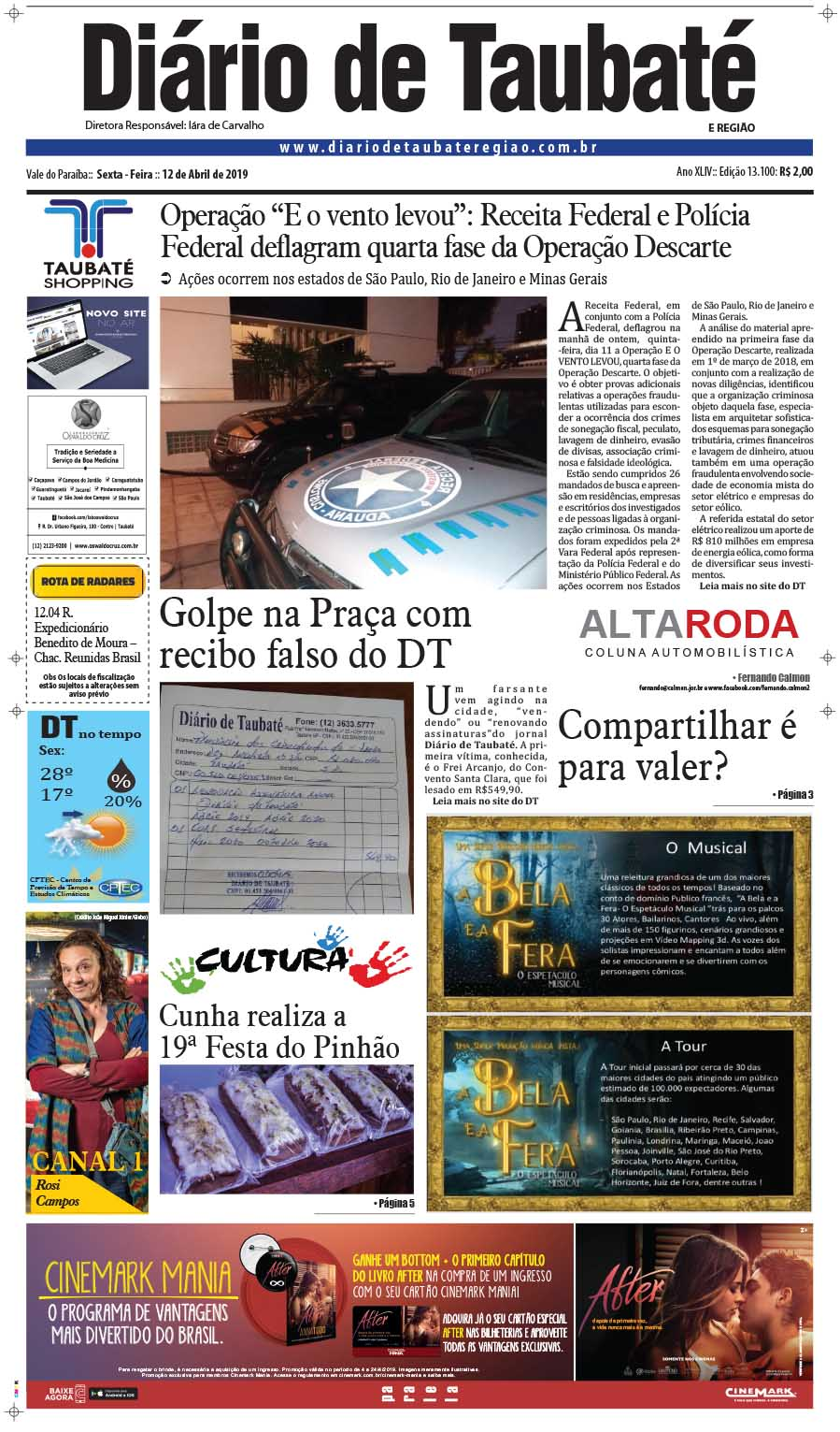 cbc5ca75cfeac Diário de Taubaté e Região – Sesc Taubaté oferece neste sábado ...