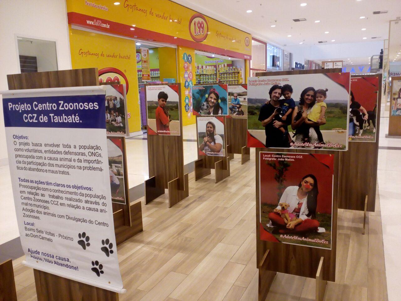Via Vale faz exposição em prol do Centro de Zoonoses de Taubaté