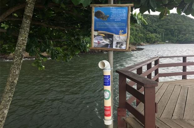 Tamar instala coletores de resíduos de pesca amadora
